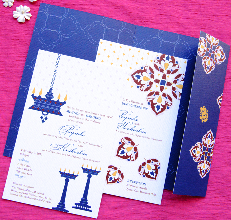 Wedding Invitation Thoughts: Thursday Thoughts: Invitations For A Goan Wedding !